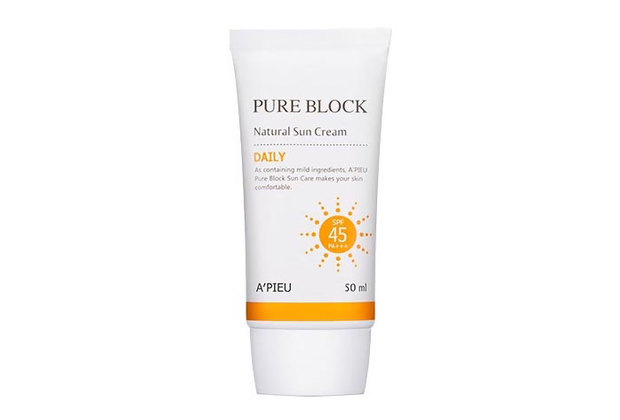 A'Pieu Pure Block Natural Daily Sun Cream SPF45/PA+++ 50 ml