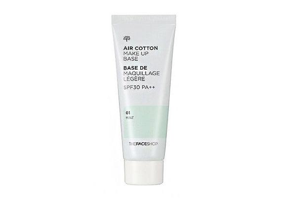 The face shop air cotton base - mint