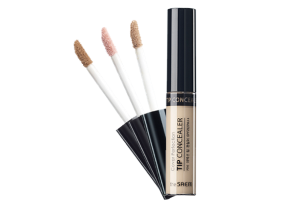THE SAEM COVER PERFECTION TIP CONCEALER -  01 Clear Beige