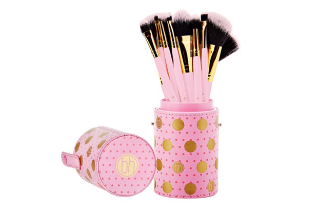 BH Cosmetics - Dot Collection - 11 Piece Brush Set Pink