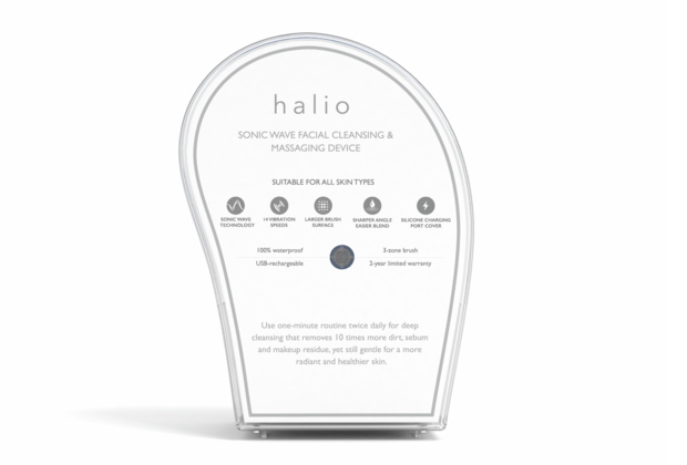 Halio Facial Cleansing & Massaging Device - Sky Blue